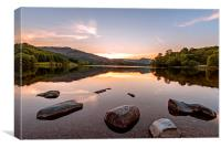 Sunset over Lake Grasmere, Canvas Print