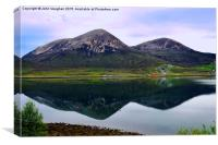 Reflections in Loch Slapin at Torrin Isle of Skye, Canvas Print