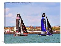 AC-45 America's Cup Portsmouth 2015, Canvas Print