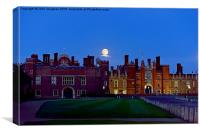 Once in a Blue Moon at Hampton Court Palace, Canvas Print
