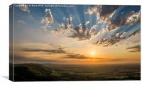 Devil's Dyke Sunset over Sussex and South Downs, Canvas Print