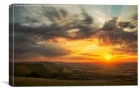 Devil's Dyke Sunset, Canvas Print