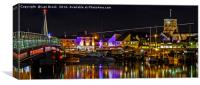 Shoreham Harbour at Night, Canvas Print