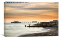 Worthing Pier at Sunset, Canvas Print