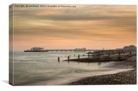 Worthing Pier Evening, Canvas Print