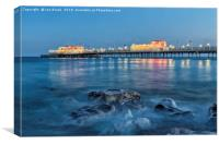 Worthing Pier Blue Hour, Canvas Print