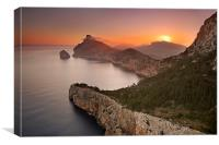 Cap de Formentor sunrise, Canvas Print