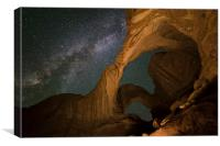 Milky Way in double window view, Canvas Print