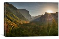 Tunnel View, Canvas Print