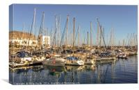 Port in the lovely fishing village..........., Canvas Print