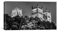 Night black and white at the Cathedral......., Canvas Print
