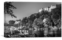 Riverside in black and white by Night........, Canvas Print
