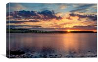 Silky sunset at Budle Bay, Canvas Print
