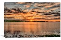 Summer Sunset at Budle Bay, Canvas Print