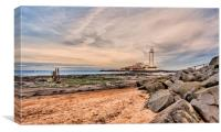 Coastal Beauty Lighthouse, Canvas Print