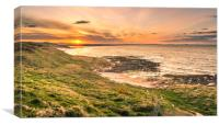 Sundown in Northumberland, Canvas Print