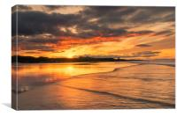 Bamburgh Beach  , Canvas Print