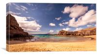 Pretty Playa de Papagayo, Canvas Print