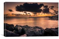 Stormy Sunset Playa Blanca, Canvas Print