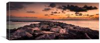 Sunset out to Sea Playa Blanca, Canvas Print