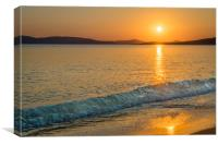 Agia Anna Sunset , Canvas Print