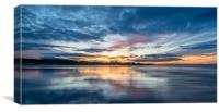 Sunset at Beautiful Bamburgh, Canvas Print