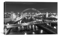 Black and White Bridges, Canvas Print