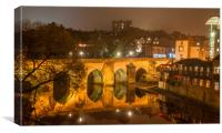 Photo's of Durham - Elvet Bridge, Canvas Print