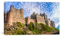 A different view of Bamburgh Castle, Canvas Print