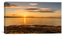 Photo's of Northumberland - Budle Bay Sunset, Canvas Print