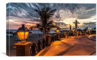 Prom Sunset in Costa Adeje, Canvas Print