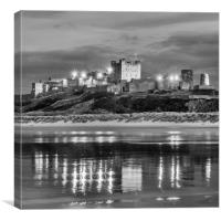 Bamburgh Castle Evening Reflections, Canvas Print