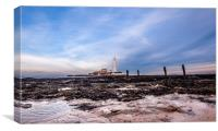St. Mary's Lighthouse in Whitley Bay, Canvas Print