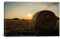 Hay Bale Sunset, Canvas Print