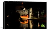 Pull's Ferry at Night, Canvas Print