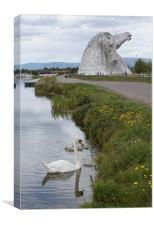 the Kelpies in Helix Park , Scotland  , Canvas Print