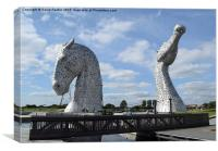 The Kelpies sculptures , Helix Park , Canvas Print