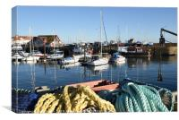 Anstruther harbour , Fife , Scotland in winter, Canvas Print