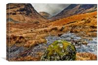 Glen Coe, Scotland, Canvas Print