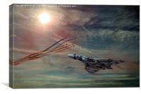 Tribute to the Vulcan Bomber, Canvas Print