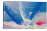 RED WHITE and BLUE, Canvas Print