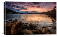 Sunset at Dove Stone, Canvas Print