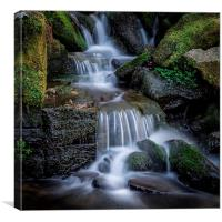 Falls at Hardcastle Crags, Canvas Print