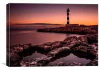 Lighthouse of Cap d'Artrutx, Menorca, Canvas Print