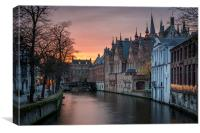 Canals of Brugge, Canvas Print