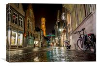 Streets of Bruges, Canvas Print