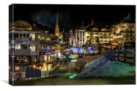 Ischgl by night, Canvas Print