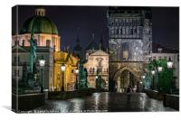 Prague Old Town Bridge Tower, Canvas Print