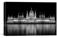 Hungarian Parliament Building Budapest, Canvas Print