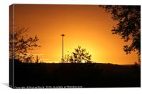 Glowing October Sunset, Canvas Print